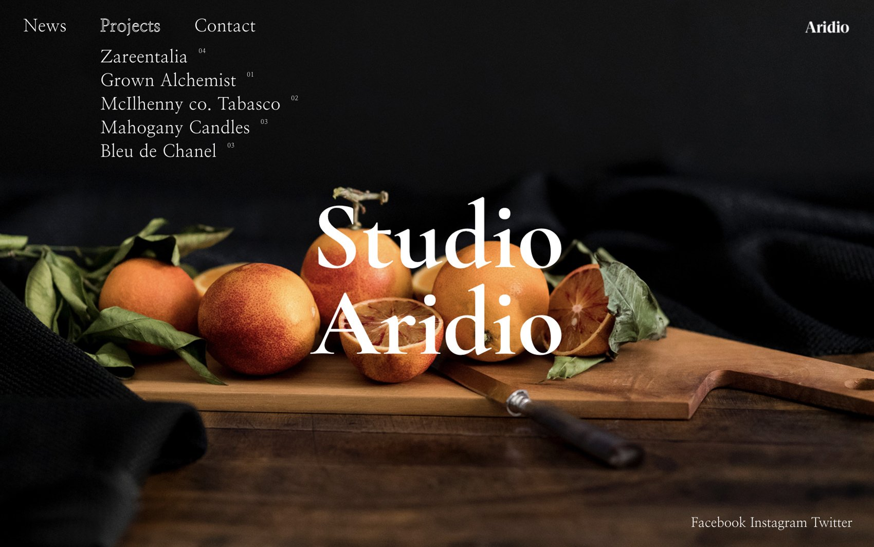 Aridio WordPress Theme - Desktop Preview