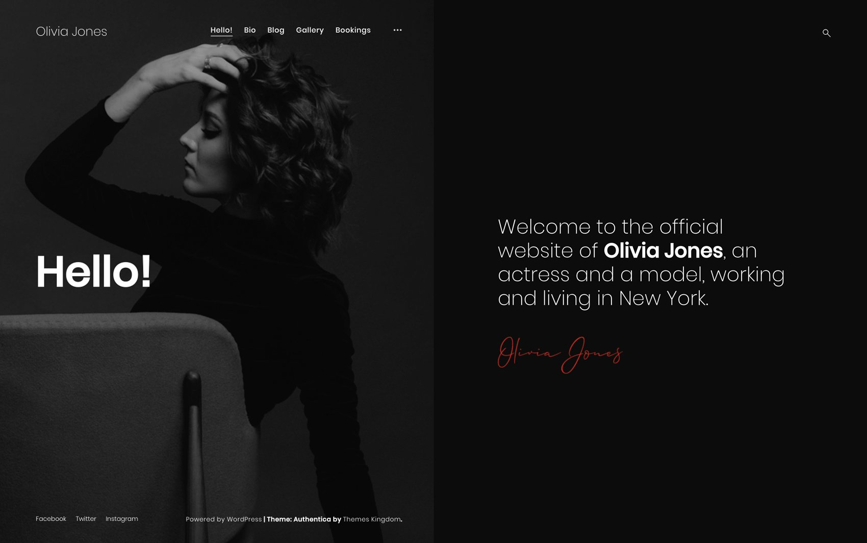 Authentica WordPress Theme - Desktop Preview