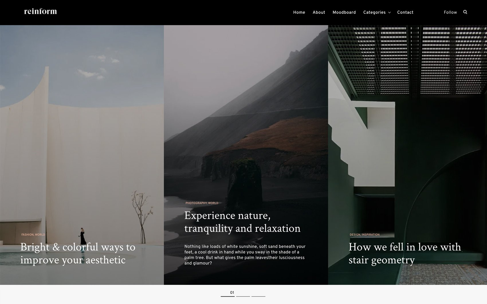 Reinform WordPress Theme - Desktop Preview
